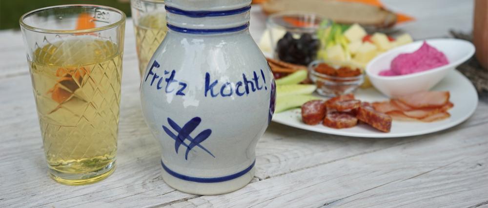Fritz kocht! – Apfelwein und Handkäs` in der Idylle